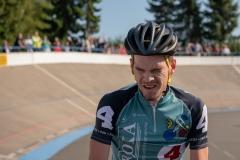 Nach dem 3. Lauf  heißt der Sieger Franz Schiewer (hinter Gerd Gessler)