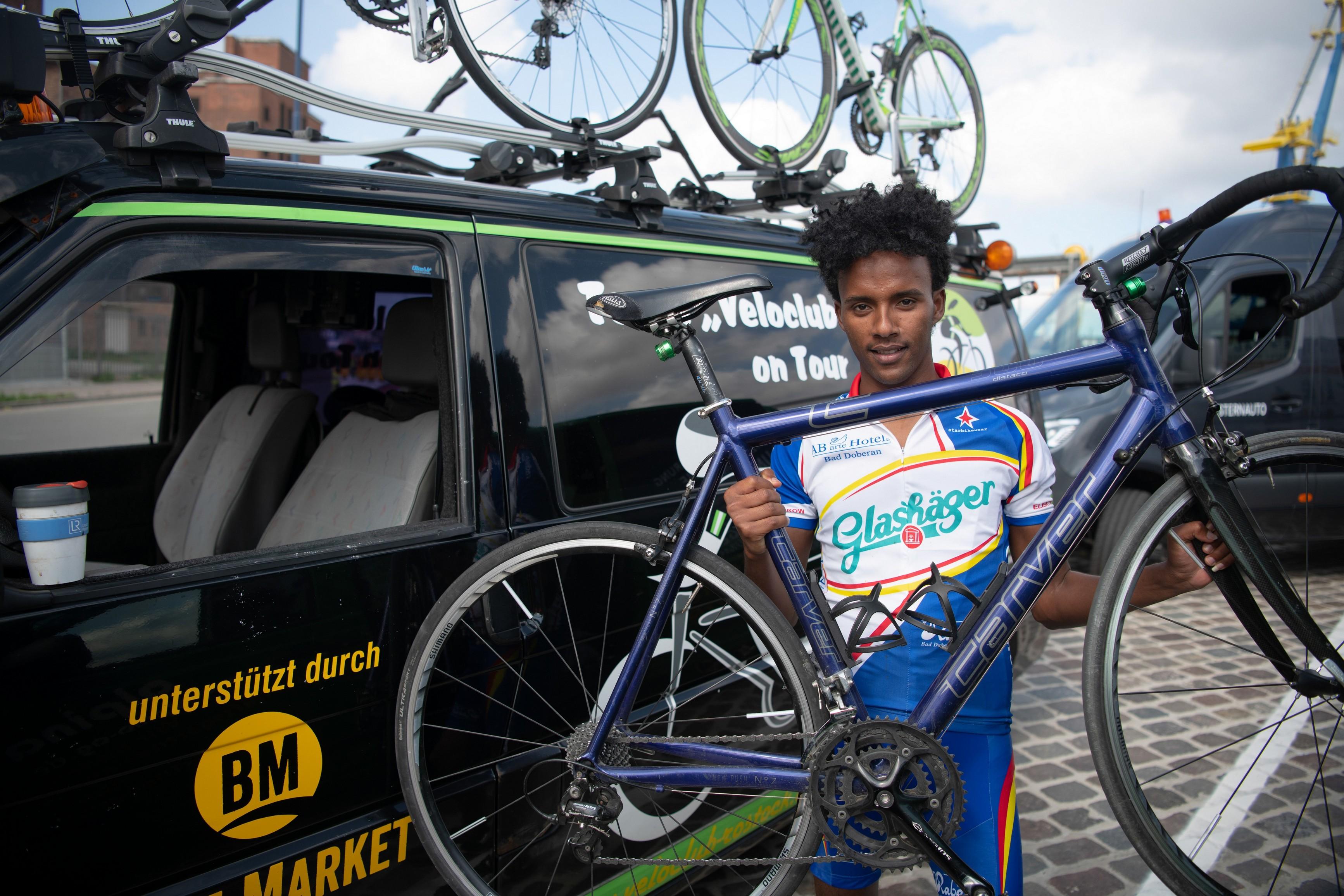 Mussi sit stolz auf sein Fahrrad